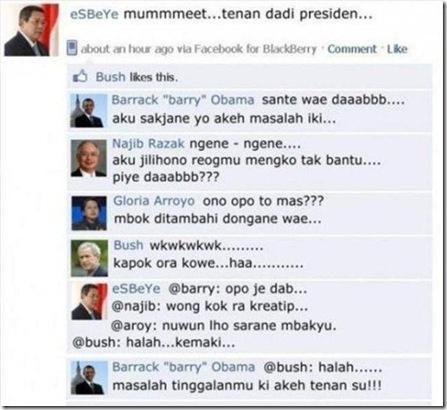 Presiden dan Facebook